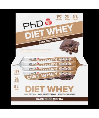 DIET WHEY BAR 12X64G DARK CHOCO MOCHA