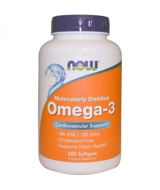 OMEGA 3 MOLECULARITY DISTILLED 200 SOFTGELS 180 EPA/120 DHA